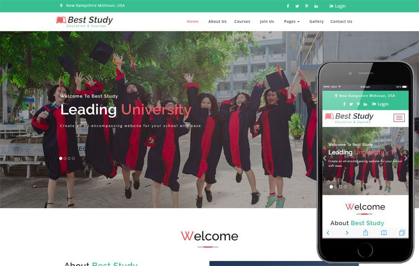Best Study an Education Category Bootstrap Responsive Web Template