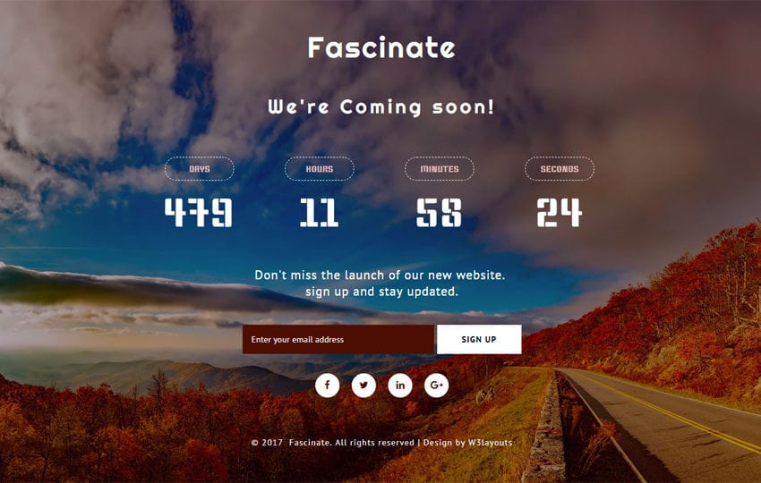 Fascinate a Flat Responsive Widget Template