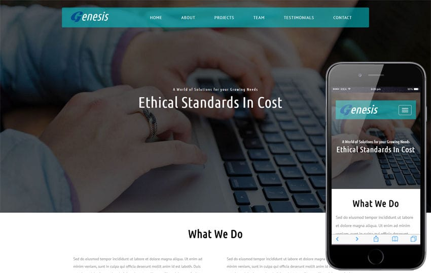 Genesis a Corporate Category Flat Bootstrap Responsive Web Template