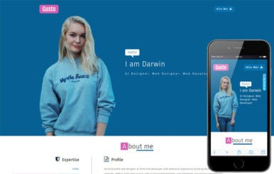 Gusto a Personal Website Flat Bootstrap Responsive Web Template