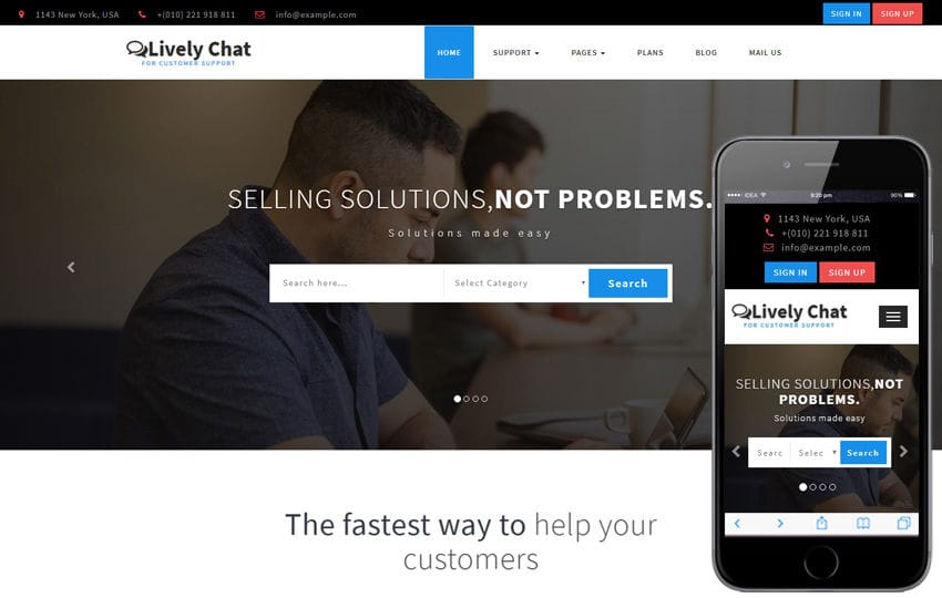 Lively Chat a Corporate Category Bootstrap Responsive Web Template