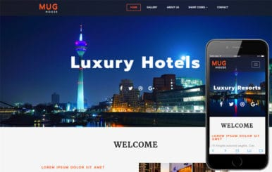 Mug House a Hotel Category Bootstrap Responsive Web Template