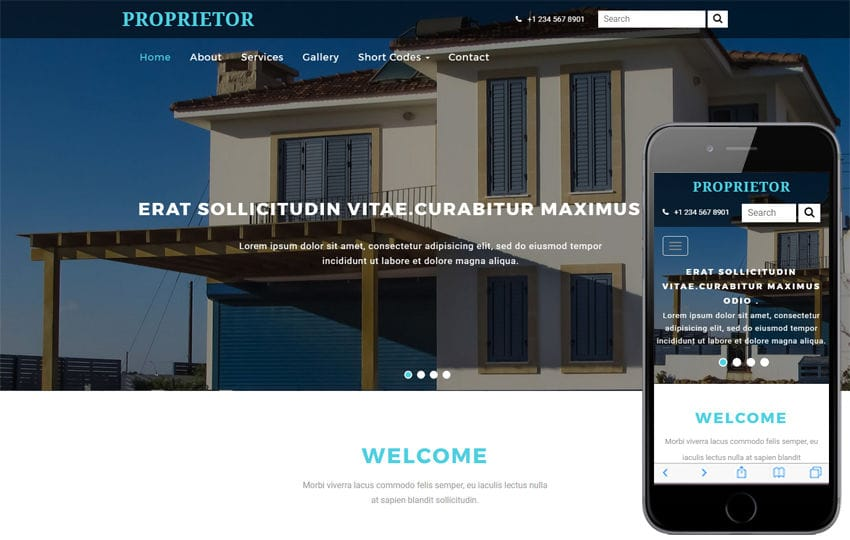 Proprietor a Real Estate Category Bootstrap Responsive Web Template