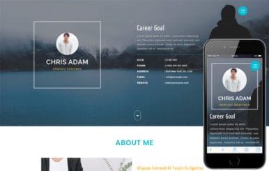 C Resume a Personal Category Bootstrap Responsive Web Template