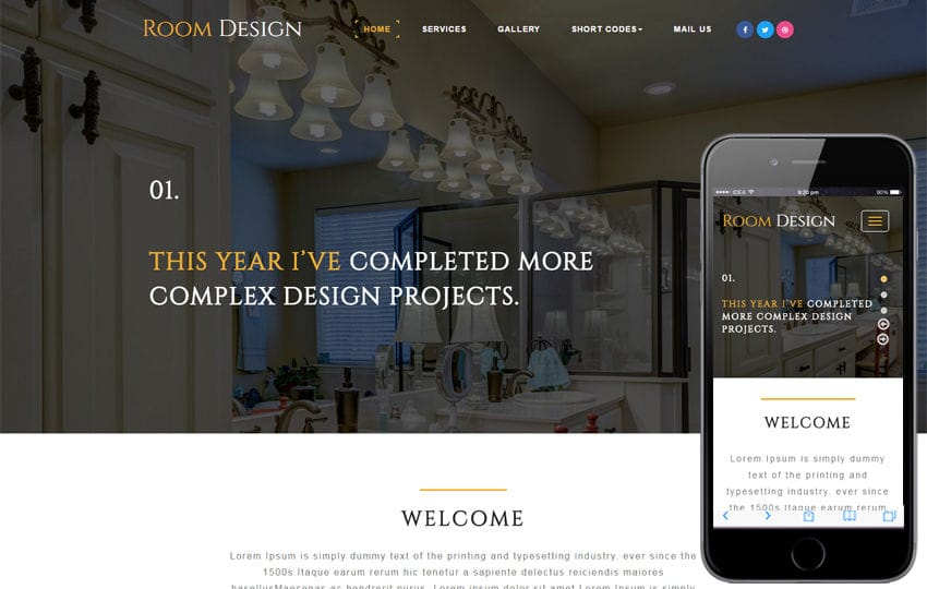 Room Design an Interior Category Bootstrap Responsive Web Template