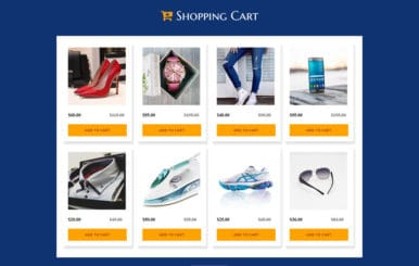 Shopping Cart – Flat Responsive Website Template