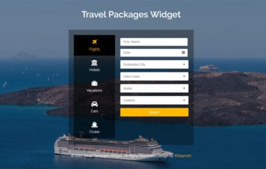 Travel Packages Widget Flat Responsive Widget Template