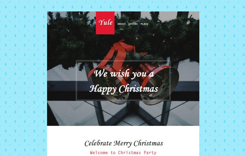 Yule Newsletter Responsive Email Template Mobile website template Free