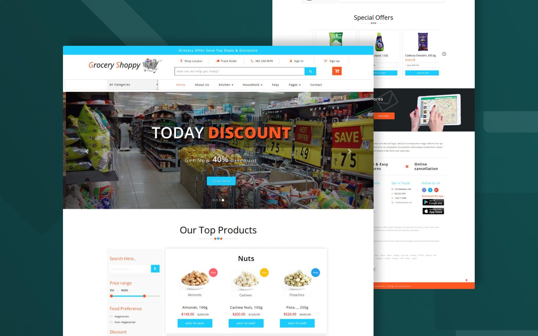 Grocery-shop-website-templates