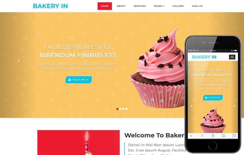 Bakery Hotel Category Bootstrap Responsive Web Template