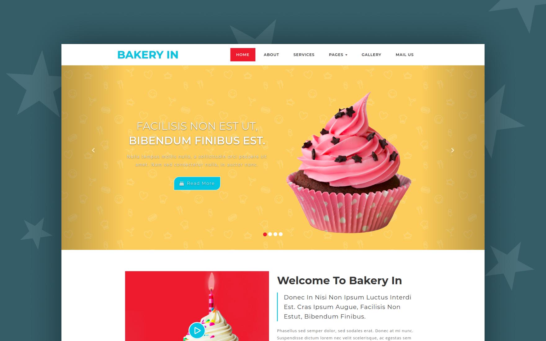 bakery in website template