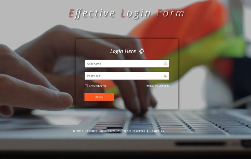 Effective Login Form Responsive Widget Template Mobile website template Free