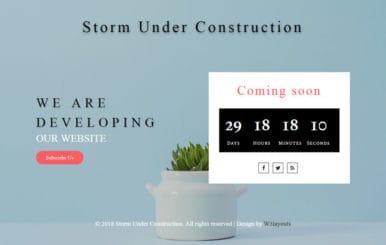Storm Under Construction Responsive Widget Template