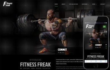Fitness Freak Sports Category Bootstrap Responsive Web Template
