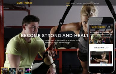 Gym Trainer a Sports Category Bootstrap Responsive Web Template