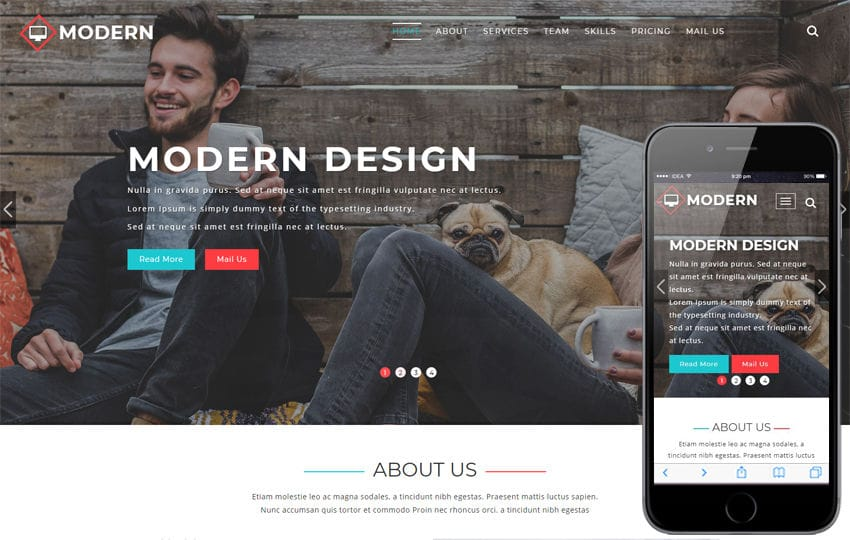 Modern Corporate Category Bootstrap Responsive Web Template