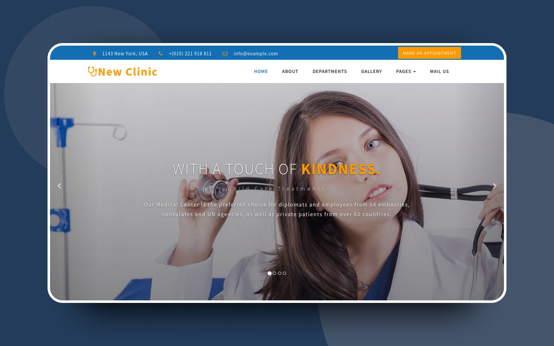 New Clinic Medical Category Bootstrap Responsive Web Template