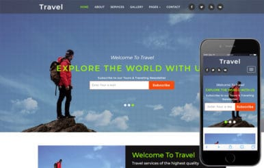 Travel Travel Agency Category Bootstrap Responsive Web Template