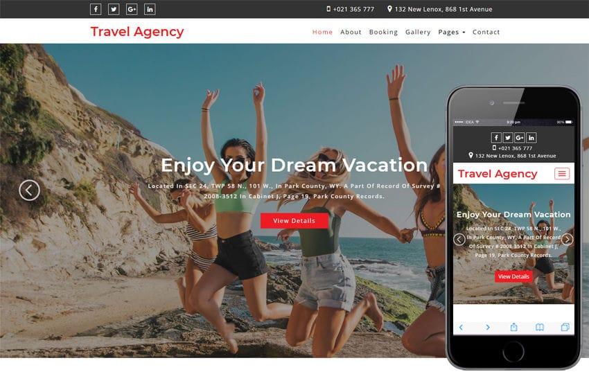 Travel Agency Travel Category Bootstrap Responsive Web Template