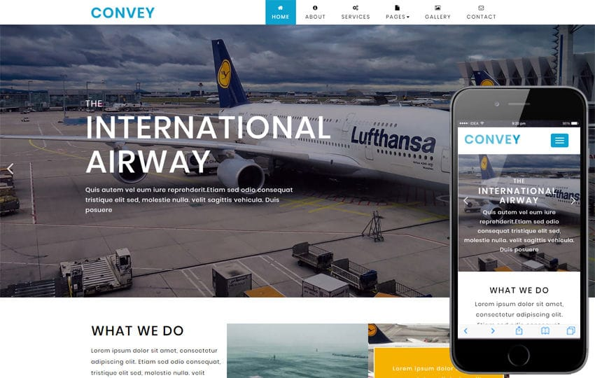 Convey Transportation Category Bootstrap Responsive Web Template