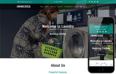 Immerse Laundry Flat Bootstrap Responsive Web Template