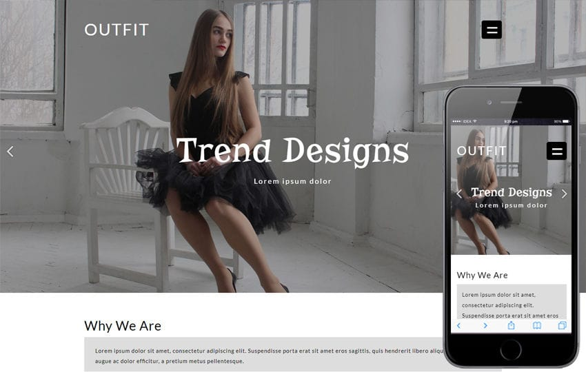 Outfit Fashion Category Flat Bootstrap Responsive Web Template