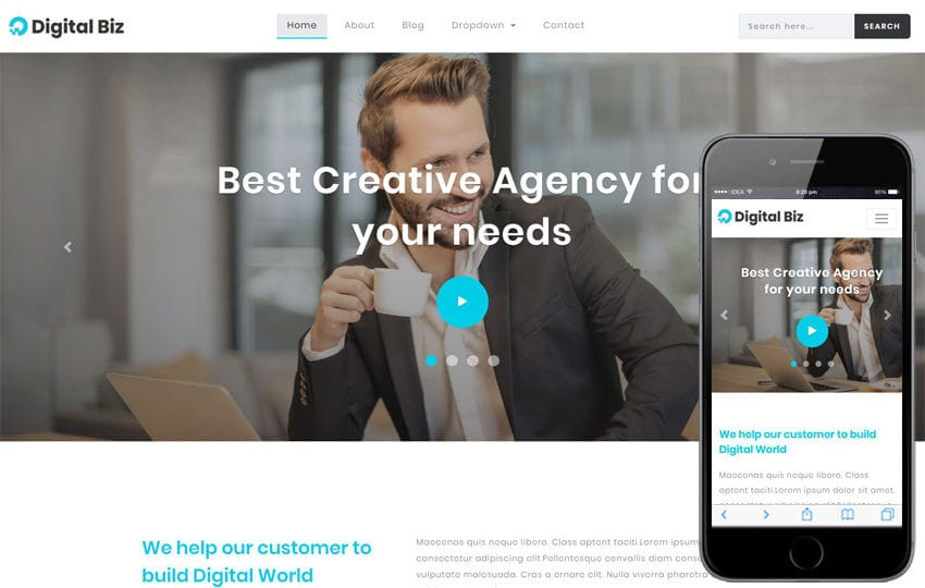 Digital Biz Corporate Category Bootstrap Responsive Web Template