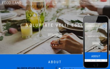 Food Land a Hotels Category Flat Bootstrap Responsive Web Template