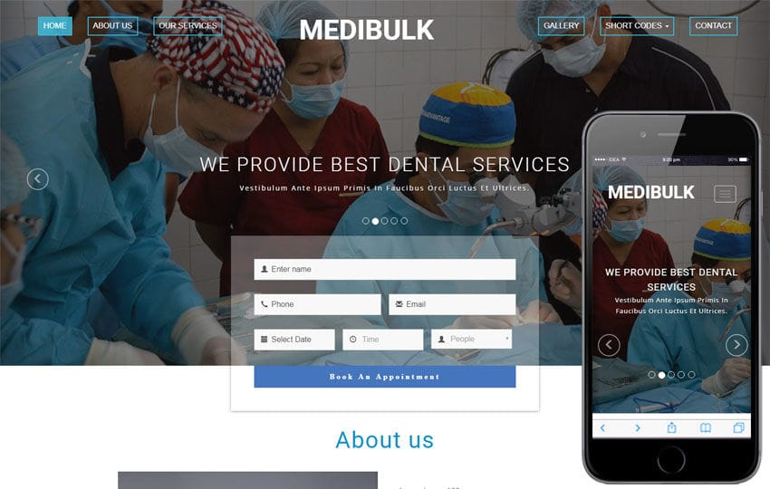 Medibulk Medical Category Bootstrap Responsive Web Template Mobile website template Free