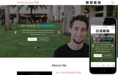 Professional CV a Personal Category Bootstrap Responsive Web Template