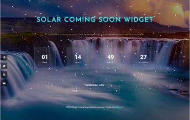 Solar Coming Soon Flat Responsive Widget Template