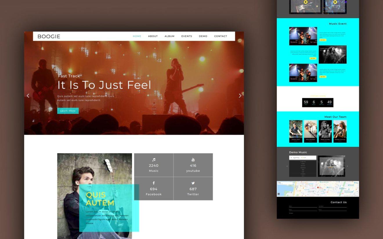 boogie website template