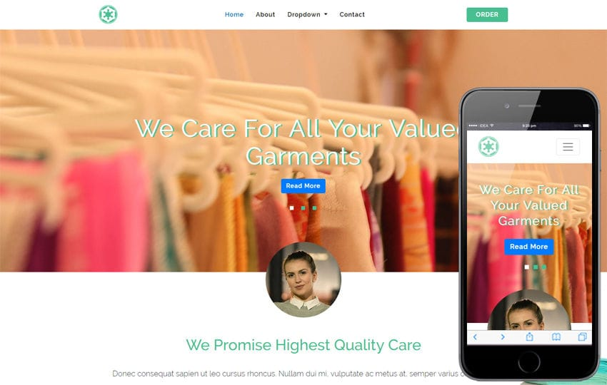 Go Laundry – Laundry Category Bootstrap Responsive Web Template Mobile website template Free
