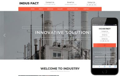Indus Fact Industrial Category Bootstrap Responsive Web Template