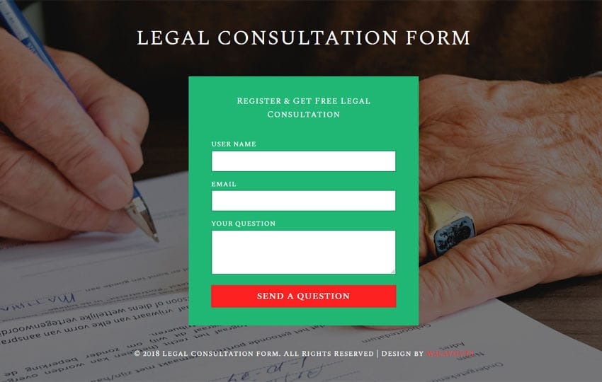 Legal Consultation Form Flat Responsive Widget Template