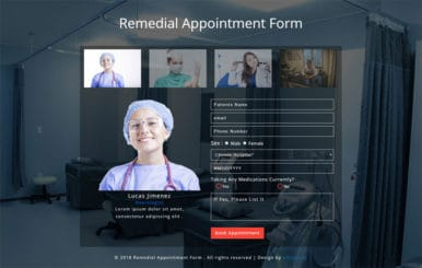 Remedial Appointment Form Responsive Widget Template