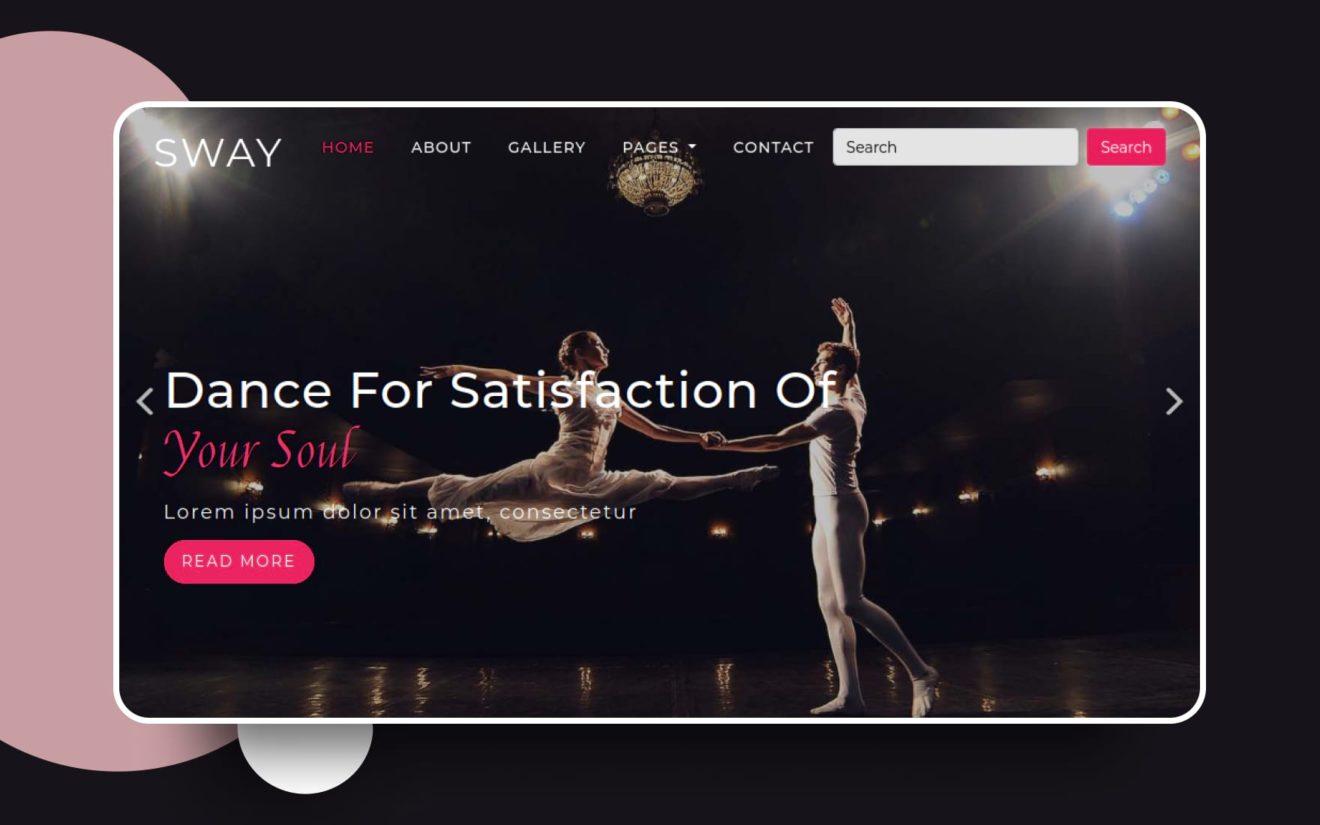 sway website template