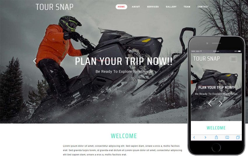 Tour Snap Travel Category Bootstrap Responsive Web Template Mobile website template Free