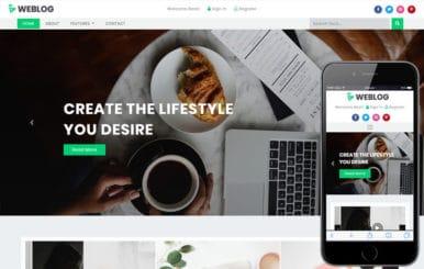 Weblog Blogging Category Bootstrap Responsive Web Template