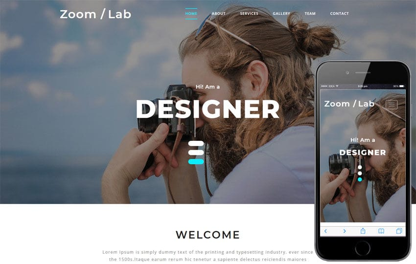 Zoom Lab Photo Gallery Category Bootstrap Responsive Web Template