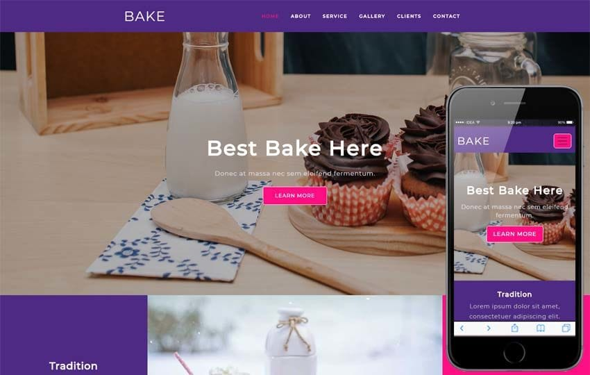Bake Hotels Category Flat Bootstrap Responsive Web Template Mobile website template Free