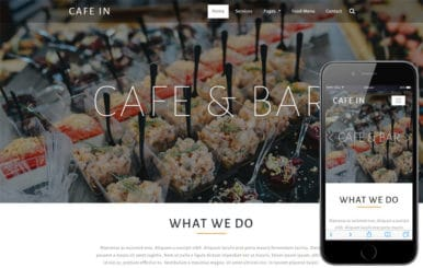 Cafe in Restaurants Category Bootstrap Responsive Web Template