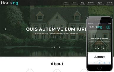 Housing a Real Estate Category Bootstrap Responsive Web Template