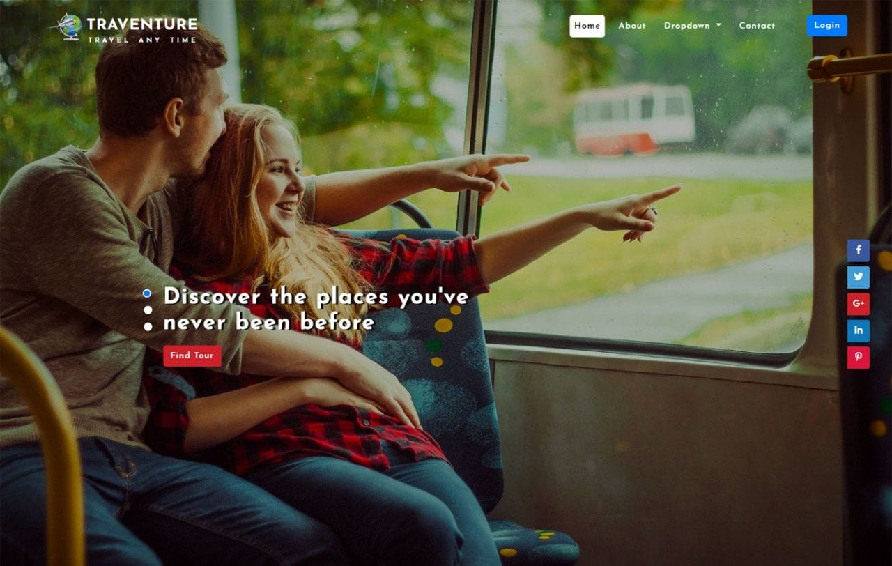 Traventure Travel Category Bootstrap Responsive Web Template