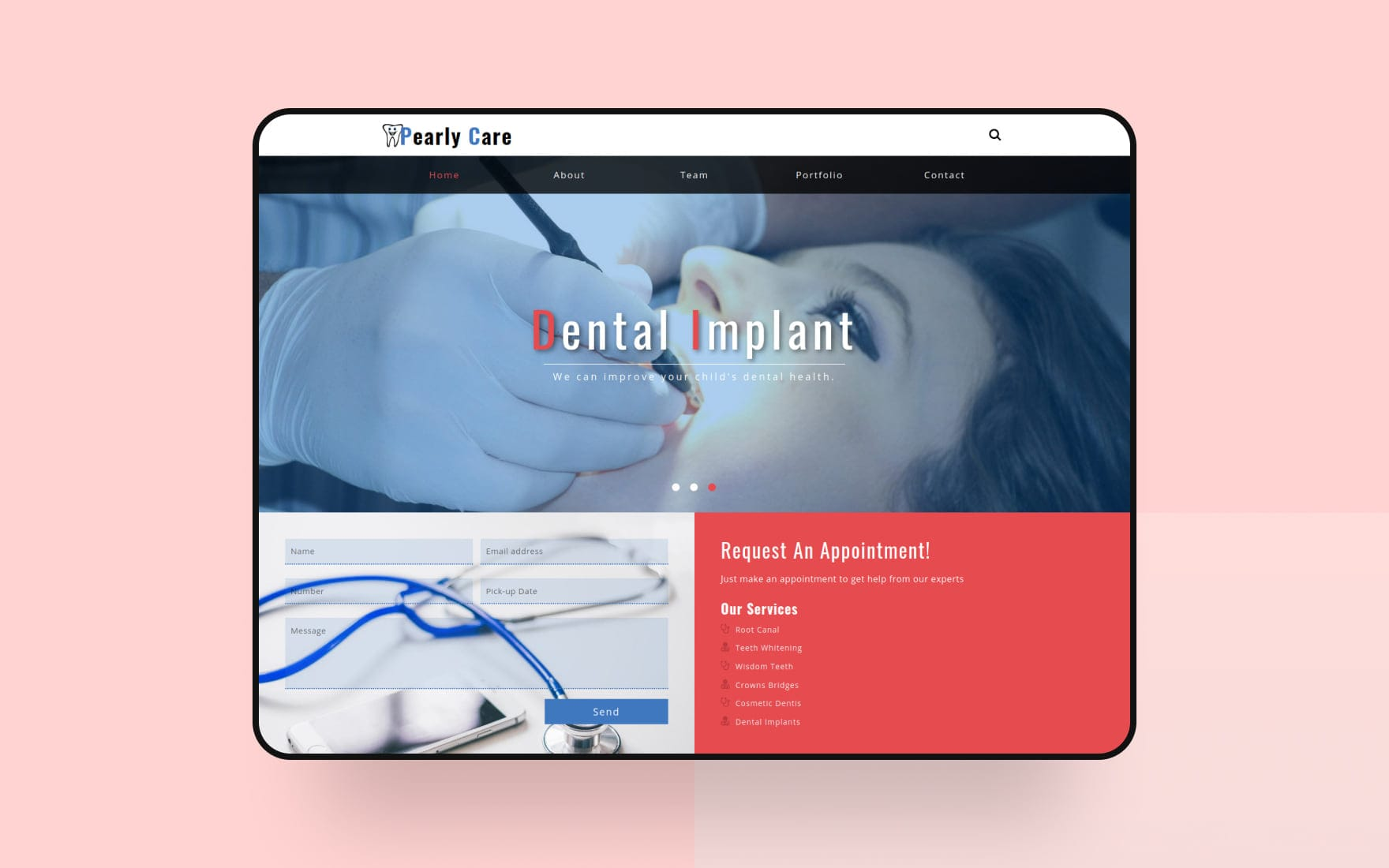 Pearly Care Medical Category Bootstrap Responsive Web Template