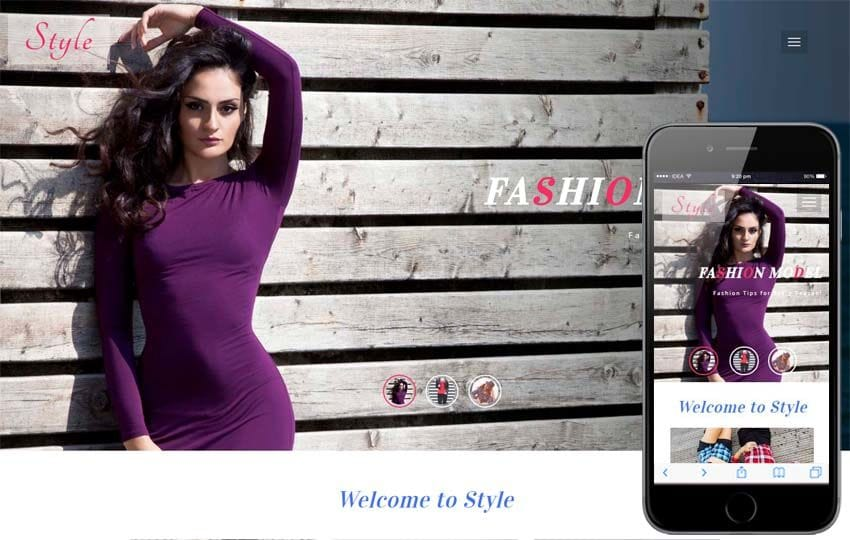 Style Fashion Category Bootstrap Responsive Web Template Mobile website template Free