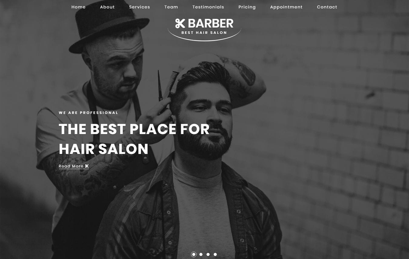 Barber Beauty & Spa Category Bootstrap Responsive Web Template Mobile website template Free