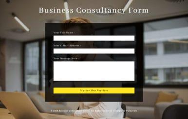 Business Consultancy Form Flat Responsive Widget Template