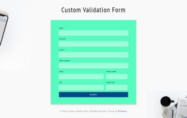 Custom Validation Form Flat Responsive Widget Template