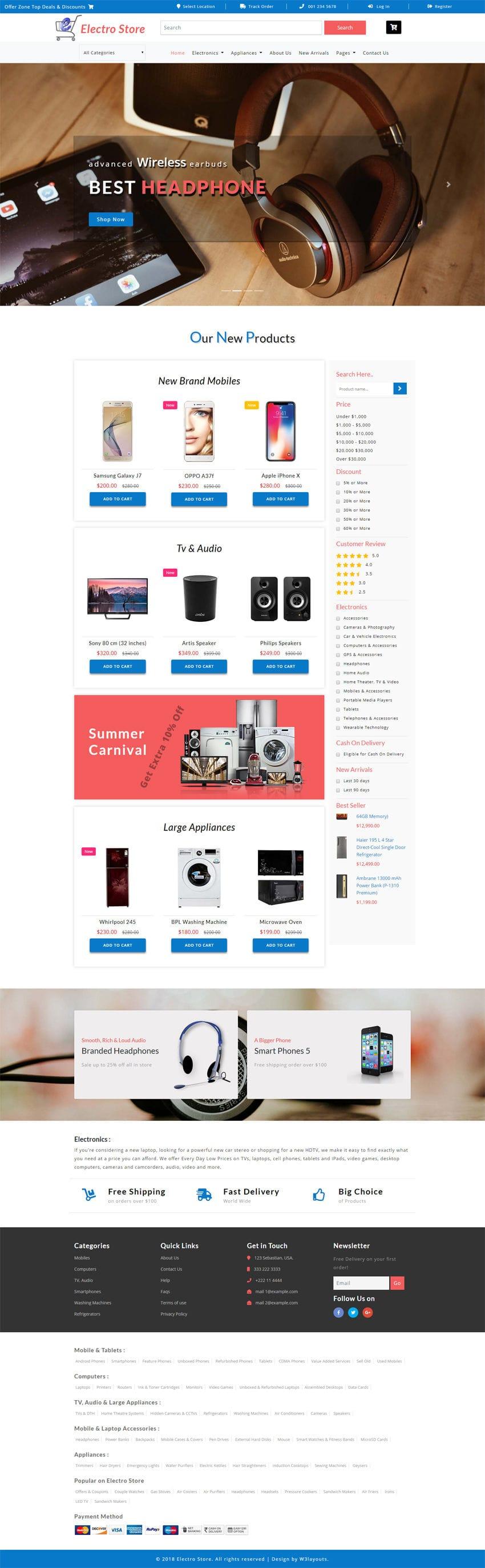 Electro Store Full Screenshot
